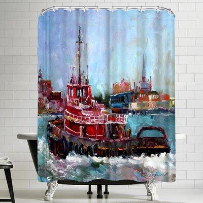 Richard Wallich Tugboat Shower Curtain