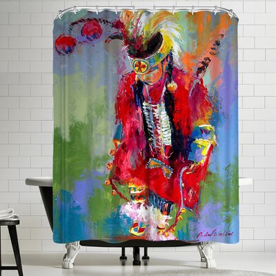 Richard Wallich Warrior Shower Curtain
