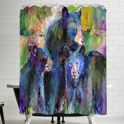 Richard Wallich Bear Family Shower Curtain