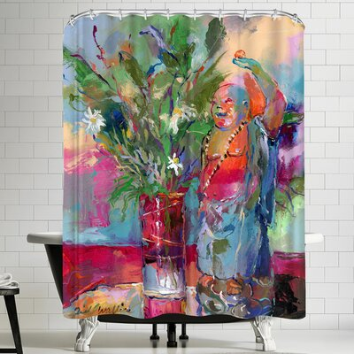 Richard Wallich Buddha Shower Curtain