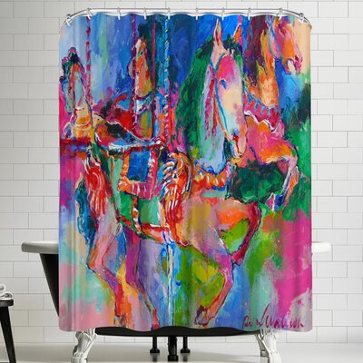 Richard Wallich Carousel 1 Shower Curtain