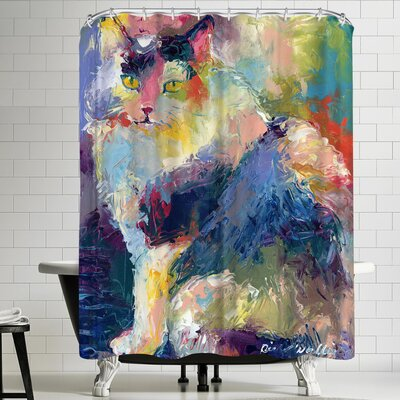 Richard Wallich Cat Shower Curtain