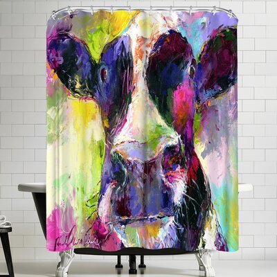 Richard Wallich Cow Shower Curtain