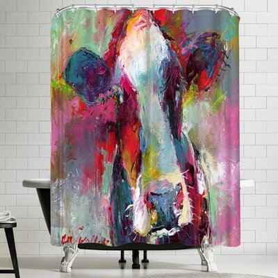 Richard Wallich Cow 3 Shower Curtain