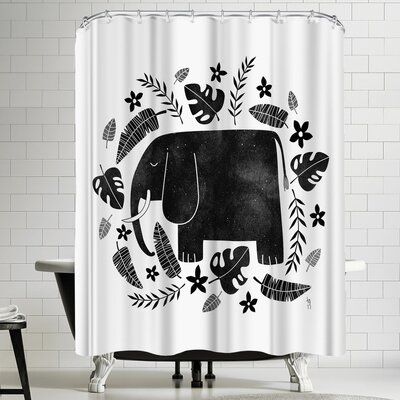 Tracie Andrews Elephant Shower Curtain