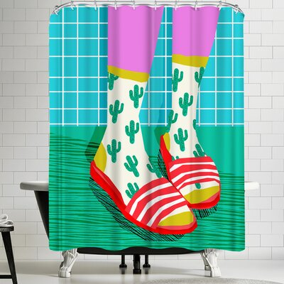 Wacka Designs Sliders Shower Curtain