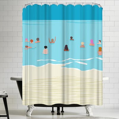 Wacka Designs Stoked Shower Curtain