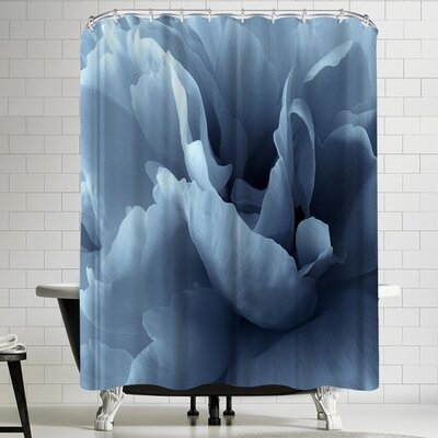 1x Peony Petal Abstract Shower Curtain