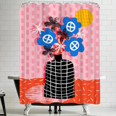 Wacka Designs Works for Me Shower Curtain