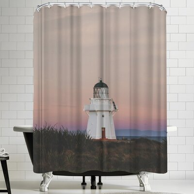 Luke Gram Wapapa Point Lighthouse New Zealand Shower Curtain