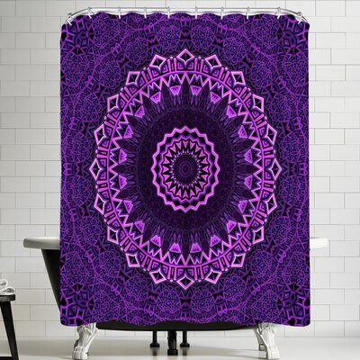 Wonderful Dream Purple Blue Mandala Shower Curtain