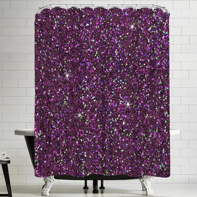 Wonderful Dream Purple Shiny Shower Curtain
