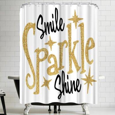 Wonderful Dream Smile Sparkle Shine Shower Curtain