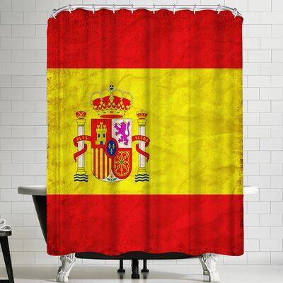 Wonderful Dream Spain Flag Shower Curtain