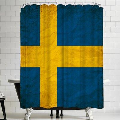 Wonderful Dream Swedish Flag Shower Curtain