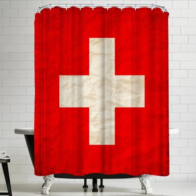 Wonderful Dream Switzerland Flag Shower Curtain