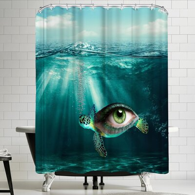 Wonderful Dream Turtle Eye Shower Curtain