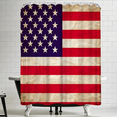 Wonderful Dream US America Flag Shower Curtain