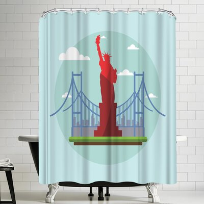 Wonderful Dream US America Shower Curtain