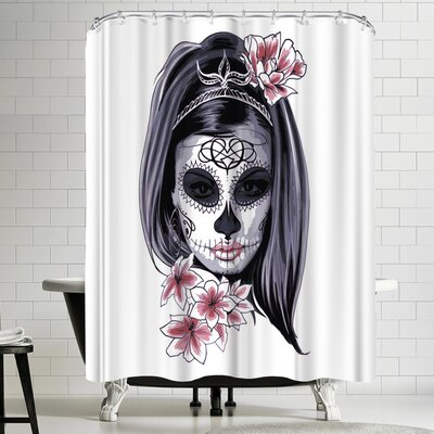 Wonderful Dream Women Horror Skull Shower Curtain