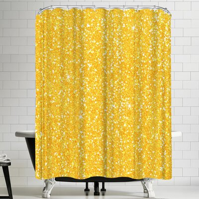 Wonderful Dream Yellow Shiny Diamond Shower Curtain