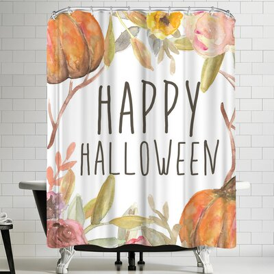 Jetty Printables Happy Halloween Festive Shower Curtain