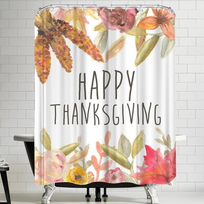 Jetty Printables Happy Thanksgiving Festive Shower Curtain