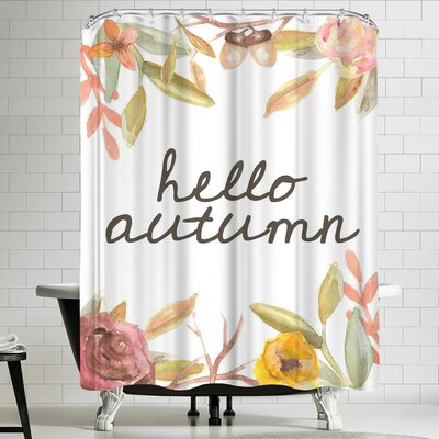 Jetty Printables Hello Autumn Botanical Shower Curtain