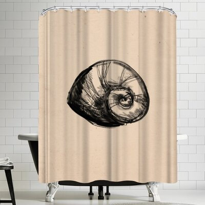 Jetty Printables Illustrated Sea Shell 2 Shower Curtain
