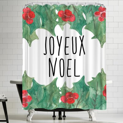 Jetty Printables Joyeux Noel Shower Curtain