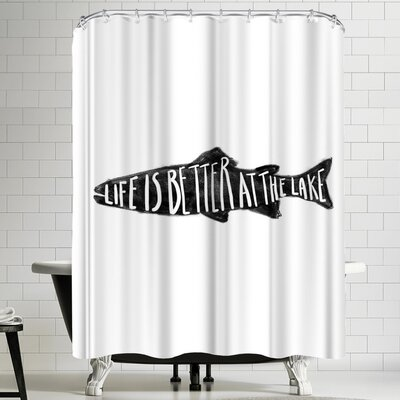 Jetty Printables Life is Better at the Lake Shower Curtain