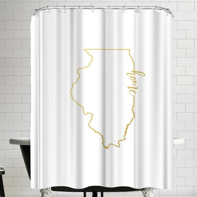 Paperfinch Illinois Home Shower Curtain