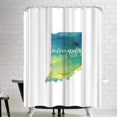 Paperfinch IN Indianapolis Shower Curtain