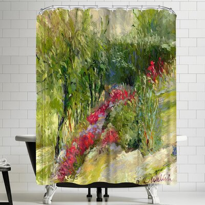 Richard Wallich Flower Garden Shower Curtain