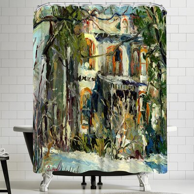Richard Wallich Haunted House Shower Curtain
