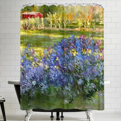 Richard Wallich Lilacs Shower Curtain