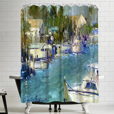 Richard Wallich Mad Beach Shower Curtain