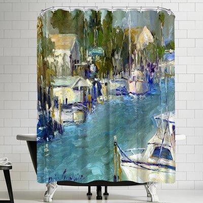 Richard Wallich Mad Beach Shower Curtain