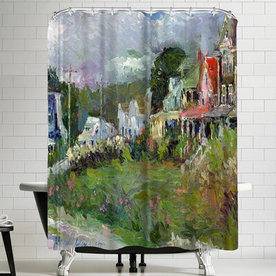 Richard Wallich Peaks Island Shower Curtain