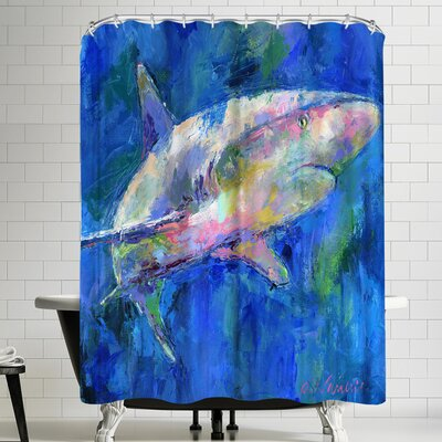 Richard Wallich Shark Shower Curtain