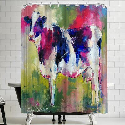 Richard Wallich Standing Cow Shower Curtain