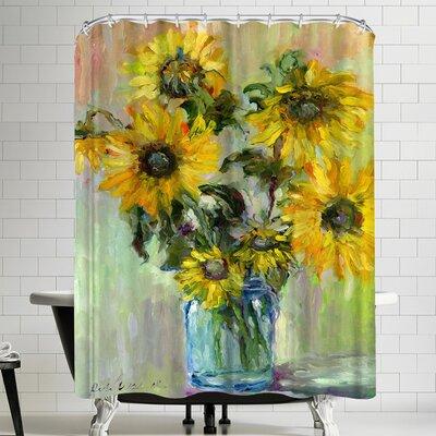 Richard Wallich Sunflowerss Shower Curtain