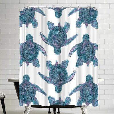 Jetty Printables Tribal Turtle Shower Curtain