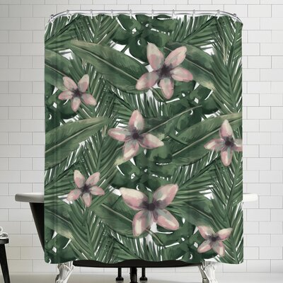 Jetty Printables Tropical Botanical Leaves Shower Curtain