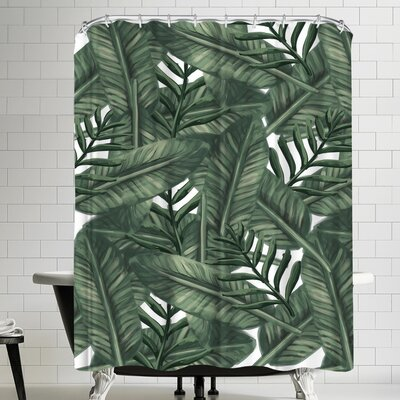 Jetty Printables Tropical Palm Leaf Shower Curtain