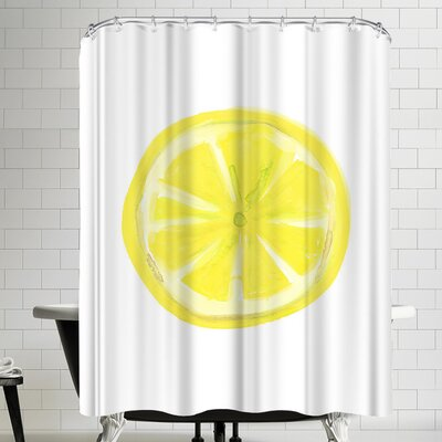 Jetty Printables Watercolor Lemon Slice Shower Curtain