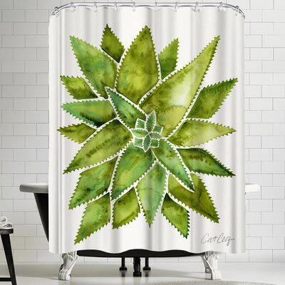 Cat Coquillette Aloevera Shower Curtain