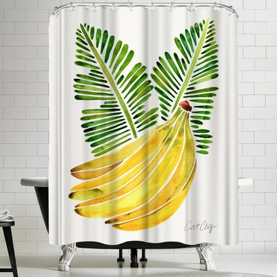 Cat Coquillette Banana Bunch Shower Curtain
