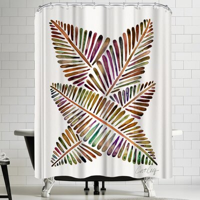 Banana Leaves Vintage Shower Curtain