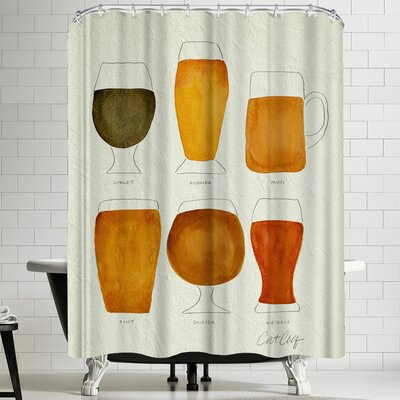 Cat Coquillette Beer Collection Shower Curtain